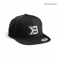 Better Bodies Vyriška Kepurė Flat Bill Cap Black