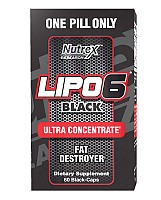 Nutrex Lipo 6 Black Ultra Concentrated 60kaps.